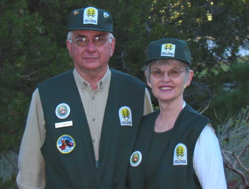 Ken and Mary Lou in USFS threads